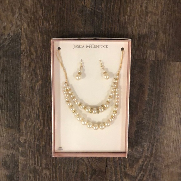 Jessica McClintock Jewelry - Necklace and earring box set